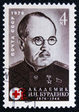 Nikolay Burdenko was the head surgeon of the Red Army during World War II, circa 1976 Royalty Free Stock Images