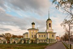 Nikolay Chudotvortsa's church in Vologda. Nikolay Chudotvortsa's church on Glinkakh in Vologda, 1676 stock photo