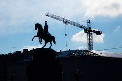 Nikolay I monument. Construction near Nikolay I monument in Saint-Petersburg, Russia Royalty Free Stock Photography