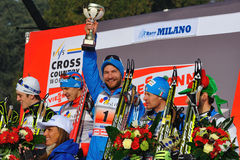Nikolay Morilov winner in  Milan Race Royalty Free Stock Photography