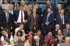 Nikolay Patrushev on tribune Stock Images