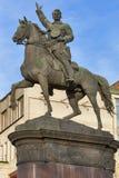 Nikolay Shchors纪念碑在基辅,乌克兰。 免版税库存图片