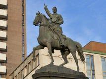 Nikolay Shchors纪念碑在基辅,乌克兰。 库存图片