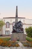 Nikolay Shors Monument em Korosten, Ucrânia fotos de stock royalty free