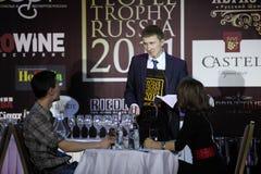 Nikolay Utebekov nam tweede plaats WPTR Stock Fotografie