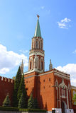 Nikollskaya Tower in the Moscow Kremlin. Russia Stock Photo