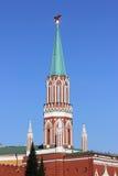 Nikollskayatoren in het Kremlin Royalty-vrije Stock Foto's