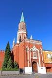 Nikollskayatoren in Moskou het Kremlin Stock Fotografie