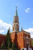 Nikollskayatoren in Moskou het Kremlin Stock Foto