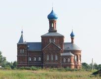Nikolo-Georgievsky temple in the village Smogiri, Smolensk region, Russia.  stock photography
