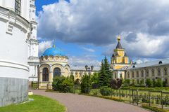 Nikolo-ugresha monastery. Russia. Bell tower. Abbey, Cathedral, middle ages. stock images