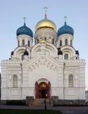 Nikolo Ugreshsky monaster 1824 katedralnych fabryk zakładał sposobów nevyansk właścicieli pyatiprestolny kamiennego transfiguraci Fotografia Stock
