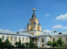 Nikolo-Ugreshsky monaster w Dzerzhinky przypuszczenia katedralna dmitrov Kremlin Moscow pocztówkowa regionu Russia zima Obraz Stock