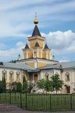 Nikolo-Ugreshsky monaster w Dzerzhinky przypuszczenia katedralna dmitrov Kremlin Moscow pocztówkowa regionu Russia zima Zdjęcia Stock
