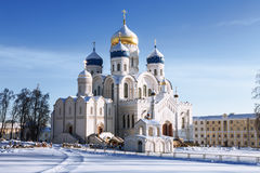 Nikolo-Ugreshsky monastery, Spaso-Preobrazhensky Cathedral in winter, Moscow region Stock Images