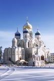 Nikolo-Ugreshsky monastery, Spaso-Preobrazhensky Cathedral in winter, Moscow region Royalty Free Stock Image