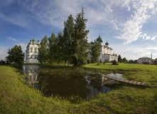Nikolo-Vyazhishsky monastery near Veliky Novgorod. In the summer Royalty Free Stock Photos
