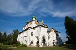 Nikolo-Vyazhishsky monastery near Veliky Novgorod. In the summer Royalty Free Stock Image