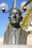 Nikolosv Tomadakis monument in Chania, Crete, Greece, Europe Royalty Free Stock Images