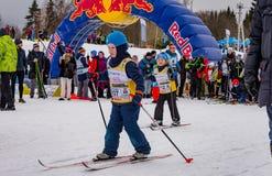 Nikolov Perevoz 2017 Russialoppet ski marathon children`s race Royalty Free Stock Image