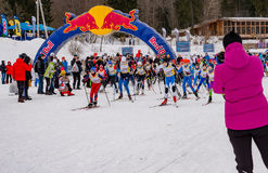Nikolov Perevoz 2017 Russialoppet ski marathon children`s race Stock Photo