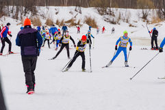 Nikolov Perevoz 2017 Russialoppet ski marathon children`s race Stock Images