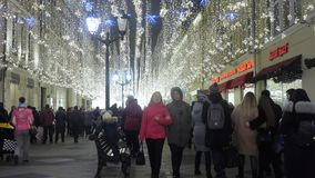 Nikolskaya街道在莫斯科 影视素材