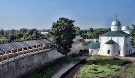 Nikolskaya church of Izborsk fortress Stock Photography