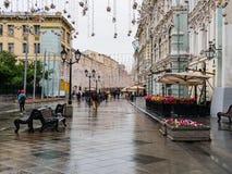Nikolskaya-Straße in Moskau stockfoto