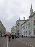 Nikolskaya street in  Moscow Royalty Free Stock Image