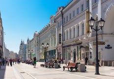 Nikolskaya Street Stock Photo