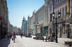Nikolskaya Street Stock Images