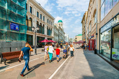 Nikolskaya street of Moscow Stock Photos