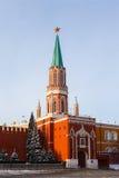 Nikolskaya torn av MoskvaKreml Arkivfoto