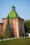 Nikolskaya tower in the Kremlin of Nizhny Novgorod. Russia Stock Images
