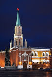 Nikolskaya tower of Moscow kremlin Royalty Free Stock Image
