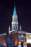 Nikolskaya tower of Moscow Kremlin Stock Image