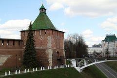 Nikolskaya tower of Nizhny Novgorod Kremlin Stock Image
