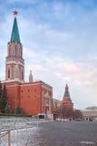 Nikolskaya and Uglovaya Arsenalnaya tower Stock Photography