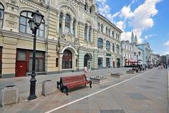Nikolskayastraat, Moskou Stock Afbeeldingen