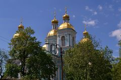 Nikolsky大教堂在圣彼德堡 免版税图库摄影