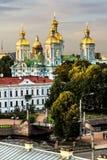从Nikolsky大教堂的高度的看法日落的 库存照片