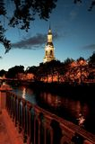 Nikolsky cathedral. Night city. Nikolsky cathedral Royalty Free Stock Photography