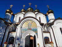 Nikolsky cathedral in Pereyaslavl-Zalessky, Russia. August, 2014. Nikolsky cathedral in Pereyaslavl-Zalessky, Russia. Ancient Russian architecture stock photography