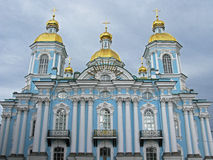 Nikolsky cathedral, St. Petersburg. Nikolsky cathedral (St. Nicholas cathedral) in Saint Petersburg. Russia. Architectural monument. Landmark. Tourist attraction Royalty Free Stock Photos