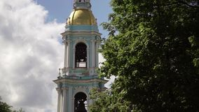 Nikolsky marine cathedral. Building in Saint-Petersburg stock video footage