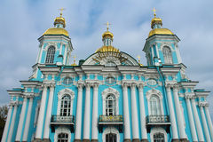 Nikolsky marine cathedral, St.Petersburg, Russia. The cathedral of prelate St. Nicolas the Miracle-Worker and Epiphany, Saint-Petersburg, Russia Stock Photos