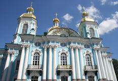 Nikolsky morska katedra, st. Petersburg, Rosja Zdjęcie Stock