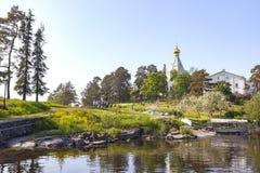 Nikolskyeiland, Valaam Kerk van St Nicholas royalty-vrije stock afbeeldingen