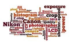 Nikon против канона Стоковые Изображения